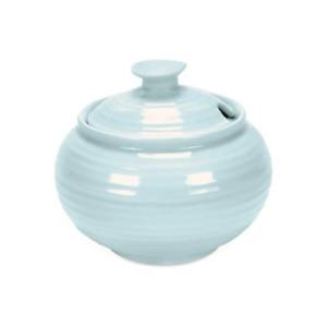 Portmeirion Sophie Conran Porcelain Covered Sugar, 11 oz - Celadon Blue