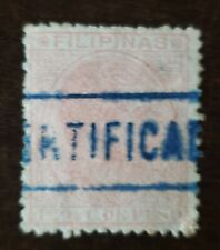 PHILIPPINES STAMP   SPAIN Occupation / colony used hinged. Certified