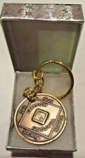 2 Year Narcotics Anonymous NA Medallion Keychain Coin Token chip Clean Key tag