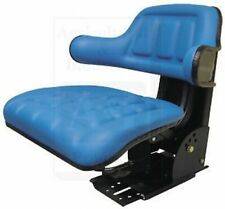 Made To Fit Ford New Holland Flip Up Seat Wrap Around Arms Blue