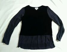 black blouse long sleeve rayon polyester spandex s.a. rose