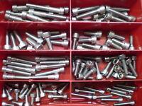 130 Teile Innensechskant Schrauben Sortiment Box Edelstahl Din 912 M5