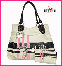 Elvis Presley Women's Girl's Handbag & Wallet Set Designer Fashion Shoulder Bag
