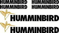 Humminbird Fishing Boat Sticker Decal Marine Set of 6