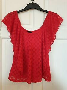 LADIES RED RIVER ISLAND TOP SIZE 10