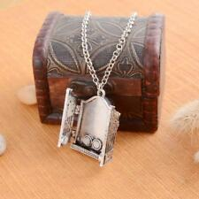 Gothic Openable Box Pendant Photo Frame Locket Necklace Jewelry Accessories