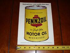 PENNZOIL MOTOR OIL - 1973 ORIGINAL VINTAGE AD
