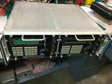 Watkins Johnson Rack Mount Receiver pair HF 8626  and VHF/UHF 8628  in frame