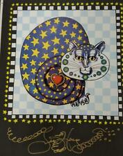 Star Kitty hand-pulled Serigraph by New Orleans Artist Jamie Hayes, signed, cat