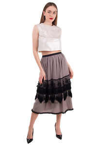 RRP €655 ANTONIO MARRAS Tulle Midi A-Line Skirt Size 38 / XS Lace Made in Italy
