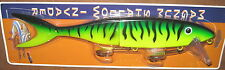 "13"" Shallow Invader Musky Innovations Pike Crankbait Lure Firetiger Plastic Tail"
