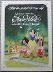 WALT DISNEY'S SNOW WHITE AND THE SEVEN DWARFS 1983 RERELEASE PROMO BROCHURE