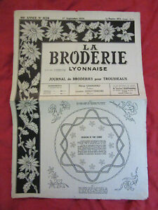 Vintage french diary embrodery monogram pattern La Broderie Lyonnaise 1958