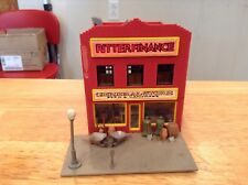 HO scale built building city Ritter Finance & general Store hardware diorama lot
