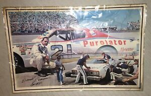 """David Pearson SIGNED AUTOGRAPHED LAMINATED 17"""" x 11"""" Picture Vintage NASCAR"""