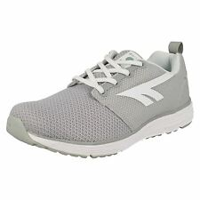 Ladies Hi-Tech Grey/White Lace Up Light Weight Trainers  Pajo Life