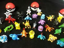 Pokemon Miniature 2-3cm Random 24 Piece Figurine Set + 3 Silicone Pokeball