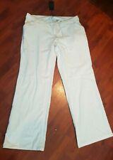 BNWT NEXT WOMEN'S  FABULOUS Maternity White Linen Blend Trousers SIZE 14