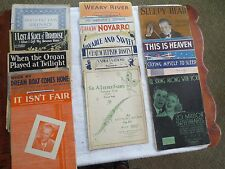 Vintage 1920's, 1930's Sheet Music, Lot of 15, AS IS!!!  FANTASTIC!!!