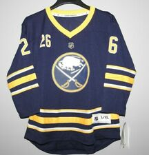NHL Buffalo Sabres Home #26 Hockey Jersey New Youth Sizes MSRP $70