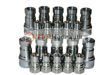 """10 Sets of 3/8"""" ISO 7241-B Hydraulic Quick Disconnect Couplers"""