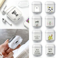 Charging Box Cartoon Hard PC Cover for Apple Airpods Earphone Case Transparent