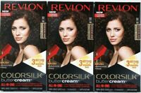 3 Revlon 50 41N Medium Natural Brown Vivid Hair Color Colorsilk Buttercream