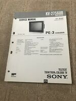 KV-2756UB  Sony Service Manual Circuit Diagram Television TV