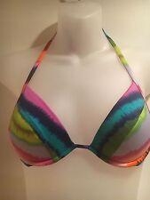 Pretty VICTORIA'S SECRET Women's Bikini Top 32B Multicolor Tie dye