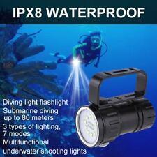 Fotografie Video 12000LM 10xXML2+4x Rot+4xBlau LED Tauchen Tauchlampe mit Mount