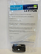 Leviton R50-423-3K Feed-Thru Pole On/Off 6A 125V CSA Carded Rotary Switch, Brown