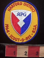 Vtg 1964 APG SCOUT-O-REE Maryland Patch Harford District Boy Scout 76CC