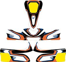STARS ORANGE CUSTOM FULL KART STICKER KIT - KARTING - GO KART - JakeDesigns