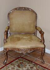 Kreiss Provincial Louis XV-Style Faux Leather Armchair