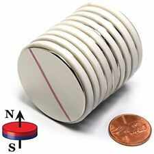 """CMS Magnetics N45 1.5"""" X 1/16"""" Disc Neodymium Magnets , A Pack Of 10 Strong"""