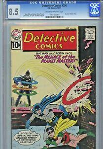 1961 DC COMICS DETECTIVE #296 CGC 8.5 - BATMAN - NICK CARDY - AQUAMAN BACKUP