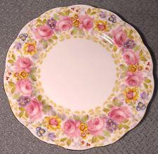 """1940's Royal Albert SERENA #839829 Bone China Roses Gold 8 1/8"""" Salad Plate"""