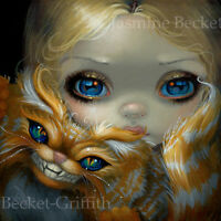Fairy Face 232 Jasmine Becket-Griffith Art Alice in Wonderland SIGNED 6x6 PRINT