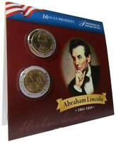 2010-P&D $1 Abraham Lincoln Presidential Dollar 2-Coin Set Uncirculated Bifold