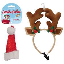 Christmas Santa Hat Reindeer Antlers for Dogs Small Medium