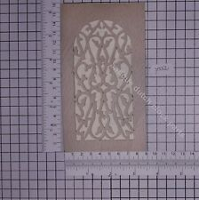 "DUTCH CLOCK PART WOODEN FRETWORK WINDOW 6 2/8"" WARMINK CLOCKS"