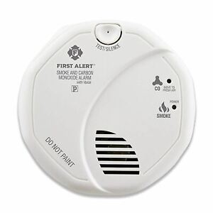 First Alert SCO7CN Combination Smoke and Carbon Monoxide Detector with Voice and