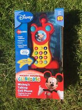 NEW Disney Mickey Mouse Clubhouse Mickey's Talking Cell Phone Talking Toy AK124