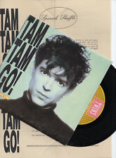 "TAM TAM GO! ""I COME FOR YOU"" SPANISH 7"" VINYL +PROMO INFO SHEET / NACHO CAMPILLO"