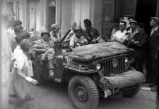 WW2  Photo WWII US Army Troops in Jeep Ardeche France 1944 World War Two / 1614