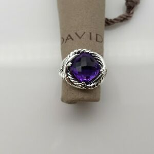 David Yurman 11mm Infinity Ring with Amethyst size 6.5