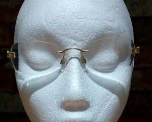 Vintage DANIEL SWAROVSKI S149 eyeglasses glasses frame - 23kt Gold Plated