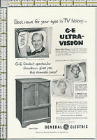 General Electric tv GE television Bing Crosby 1953 magazine print ad