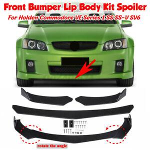 ForHoldenCommodoreVESeries1SSSS-VGloss Black Front Bumper Lip Splitter