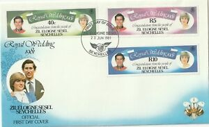 1981 Seychelles/Zil Eloigne Sesel FDC cover Prince Charles and Lady Diana